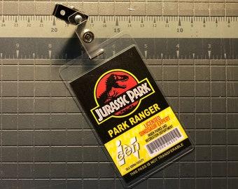 Jurassic Park Ranger ID Badge [Black]