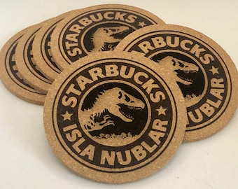 Starbucks: Isla Nublar Cork Coaster Set