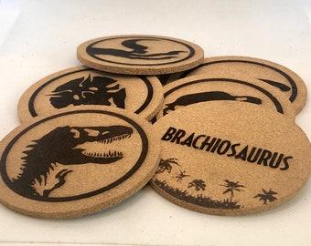 Jurassic Park Dinosaurs Cork Coaster Set of 6