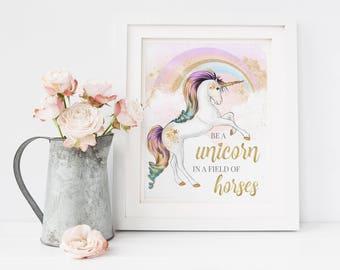 Unicorn Wall Art, Unicorn Print, Unicorn Nursery, Unicorn Decor, Unicorn Art, Nursery Decor, Nursery Wall Art, Unicorn Wall Decor, Unicorn