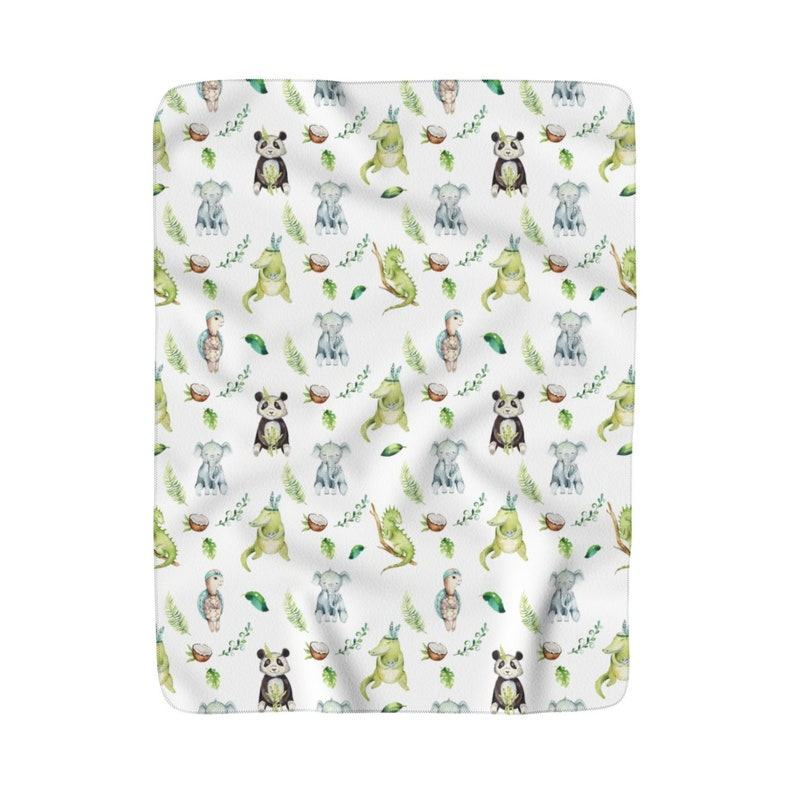Tropical Animals Baby Blanket Tropical Animals Tropical image 0