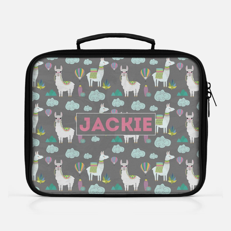 Alpaca Lunch Bag Insulated Lunch Bag Kids Lunch Bag Lunch image 0