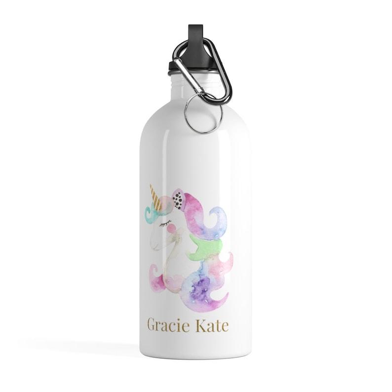 Water Bottle Unicorn Water Bottle Kids Water Bottle image 0