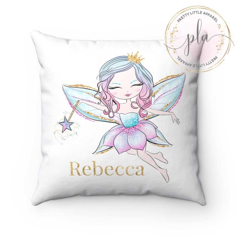 Fairy Cushion Fairy Pillow Fairy Girls Cushion image 0