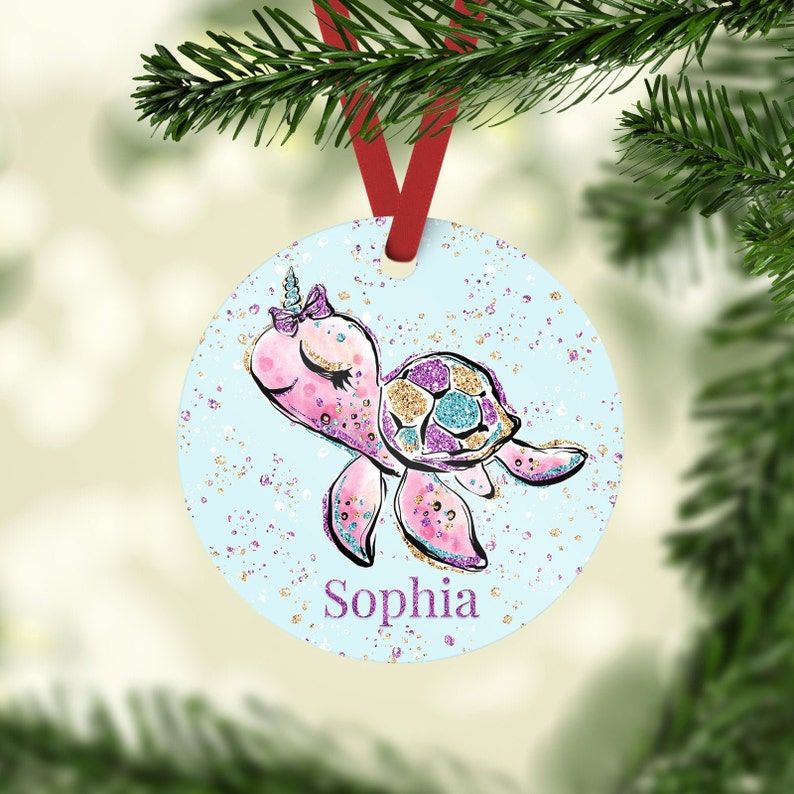 Personalized Turtle Ornament Personalized Ornament image 0