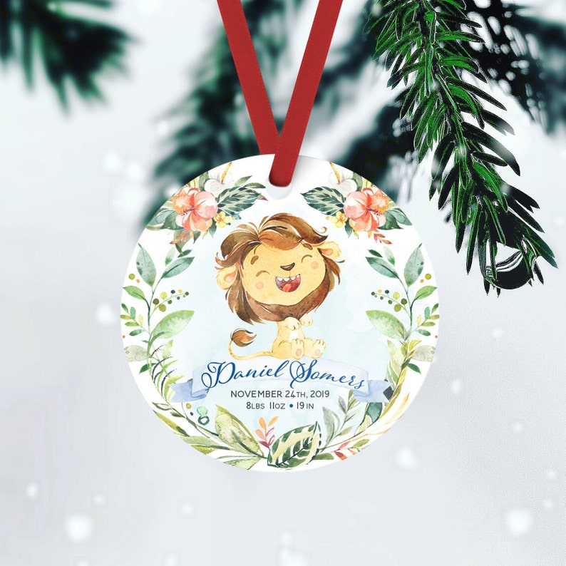 Baby's First Christmas Custom Ornament Unique Baby Boy FRONT ONLY