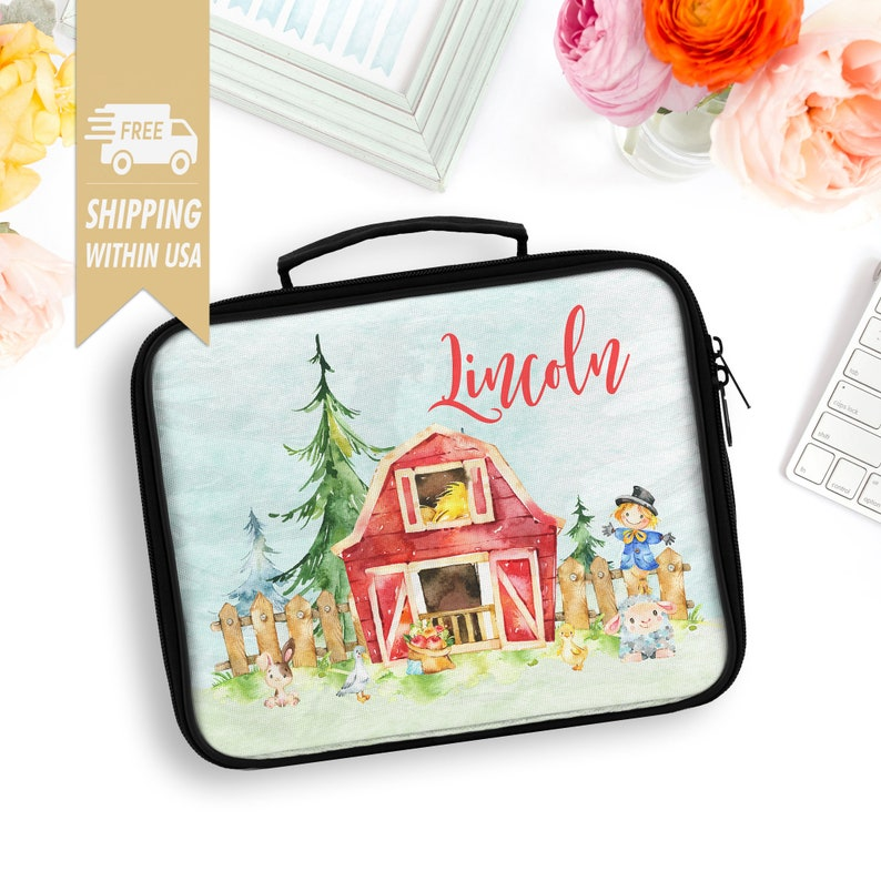 Kids Back To School Lunch Bag Personalised Toddlers Insulated image 0