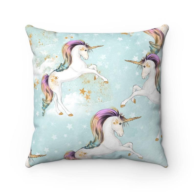 Mint Unicorn Cushion Unicorn Pillow Unicorn Unicorn Gift image 0