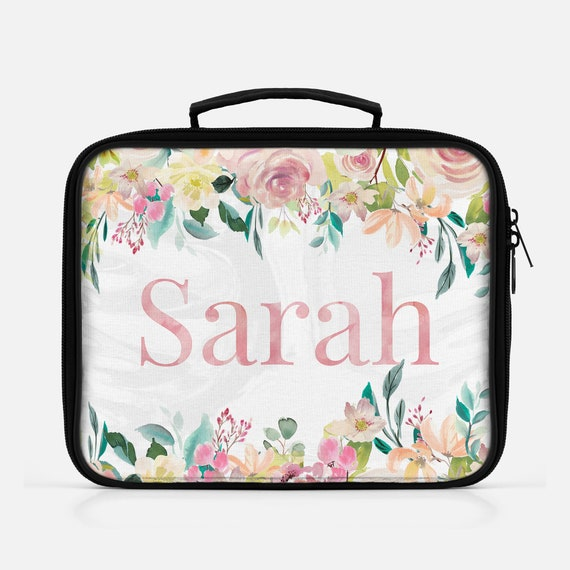 527d9ae10ade Floral Lunch Tote, Floral Lunch Bag, Floral Lunch Box, Floral Insulated  Lunch Bag, Personalized Floral Lunch Bag, Back To School, Lunchbox