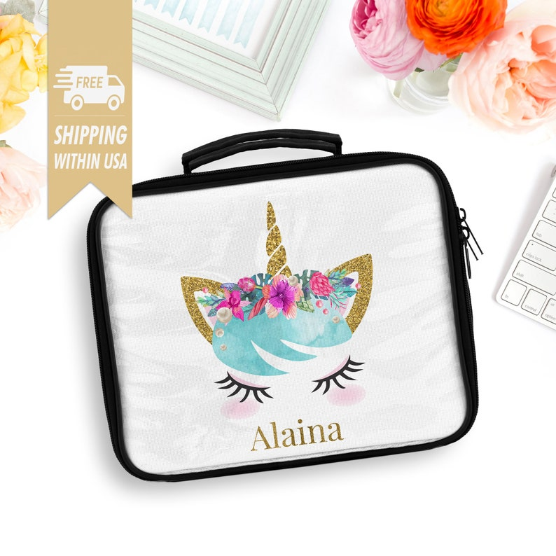 Unicorn Lunch Box For Girl Back To School Lunch Tote image 0