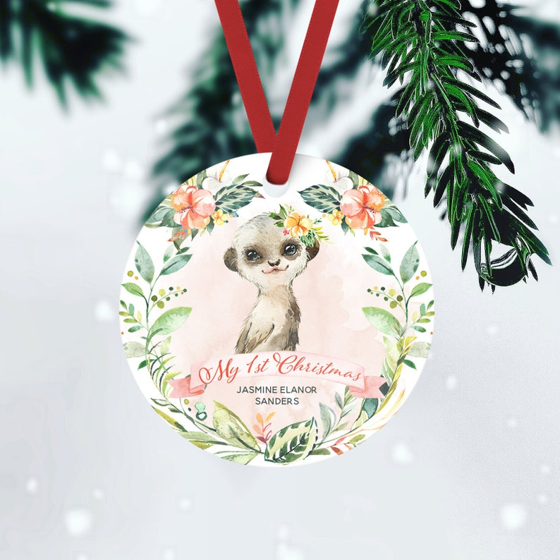 Baby's First Christmas Custom Ornament Personalized New FRONT ONLY