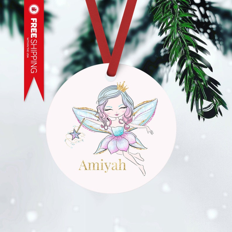 Personalized Fairy Christmas Ornament Christmas Ornament FRONT ONLY