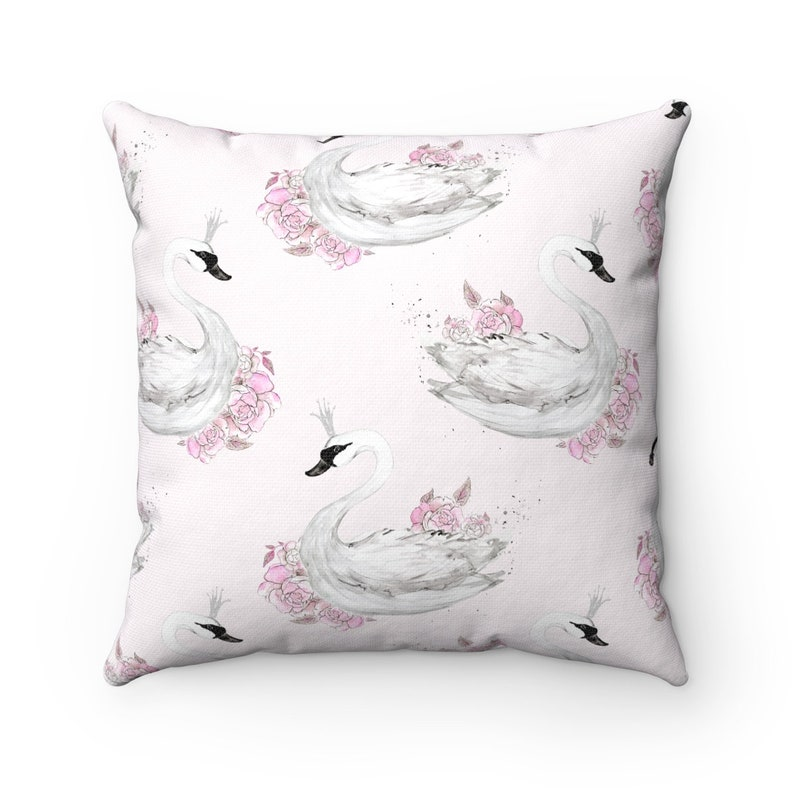 Swan Pillow Nursery Decor Swan Nursery Pillow Swan Cushion image 0