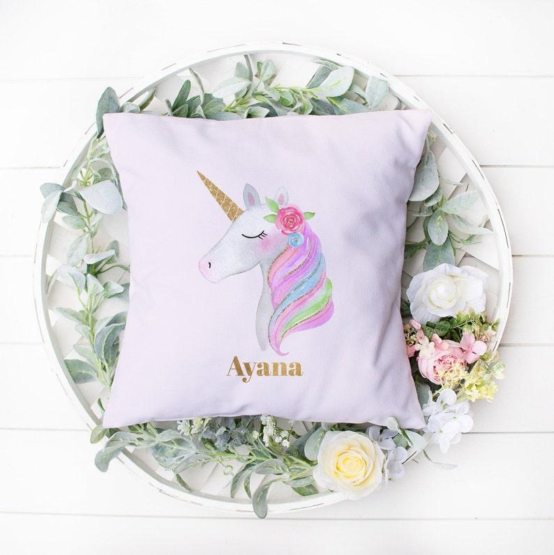 Gold & Pink Unicorn Pillow Unicorn Unicorn Gift Unicorn image 0
