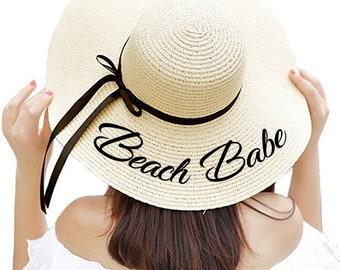 38c3aa0d Beach Babe Floppy Hat! Sun Hat Floppy Beach Hat Floppy Sun Hat Beach Bride  Hat Honeymoon Hat Mrs. Hat Anniversary Gift