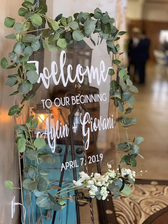 Clear Acrylic Welcome Sign Wedding Welcome Sign Custom Etsy