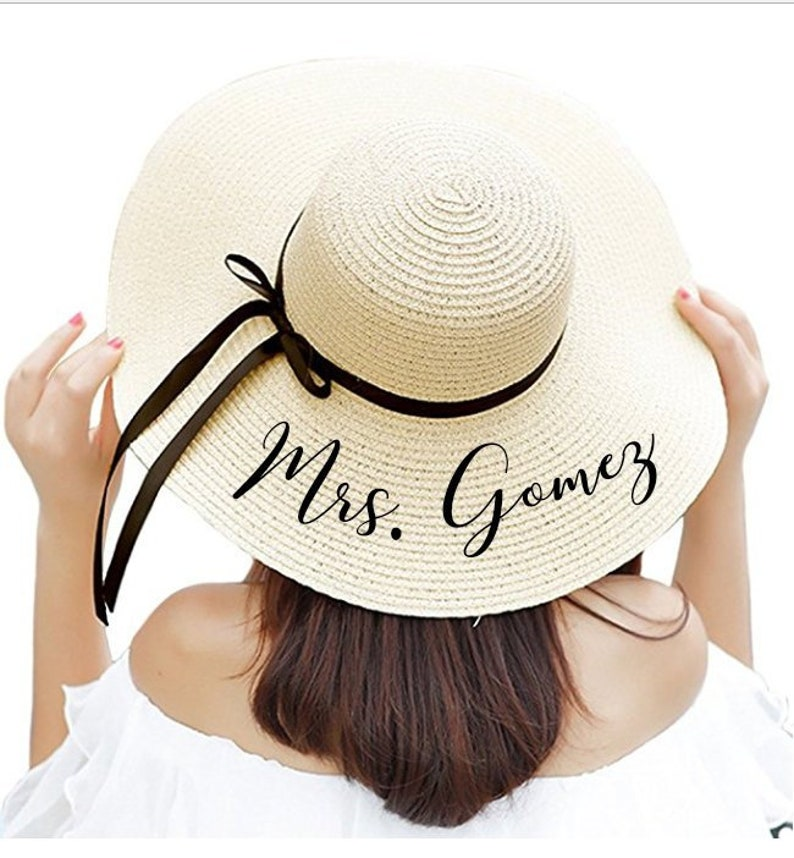15d017f1e52ed Personalized Sun Hat Floppy Beach Hat Personalized Sun Hat