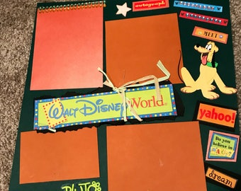 Pluto- Walt Disney World - Premade 12x12 Page Layout - TWO PAGE LAYOUT