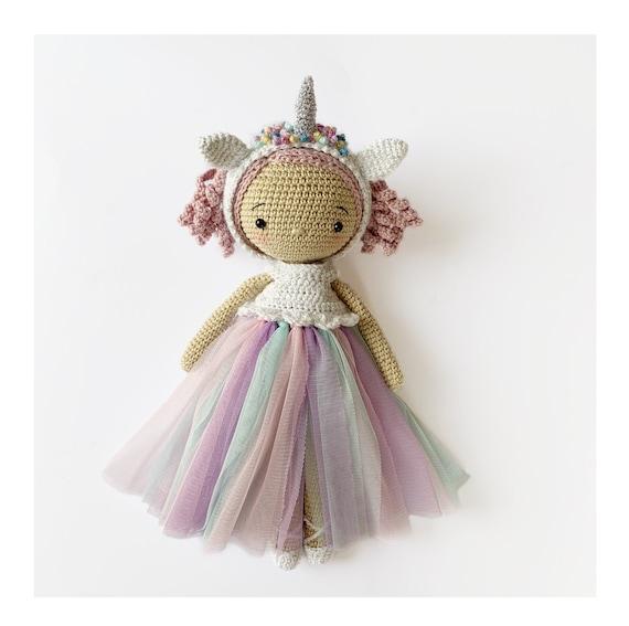 Amigurumi doll pdf pattern CROCHET Doll Unicorn Pattern