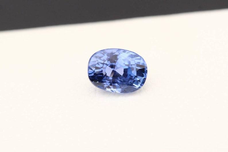 8a7c89bd9ca0d Natural Blue Sapphire 1.25ct / Cushion Mix Cut, Curved Edges 6.7mm x 5mm /  Violet Blue Loose Gem Stone / Untreated Eye Clean Quality