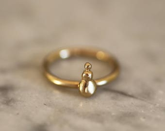 """Cairn"" fine gold plated brass ring"