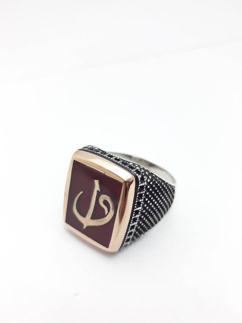 islamic ring islamic men ring Men Ring-925K Sterling Silver silver handmade ring-men ring gif-silver rings gif