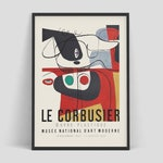 Le Corbusier - Exhibition poster for Musée National d'Art Moderne, 1954 | French art | Museum print | Cubism