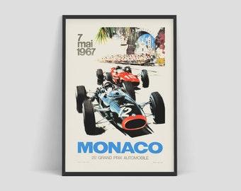 Grand Prix Monaco Formula One Vintage Racing Metal Reproduction Sign 18x12 Art