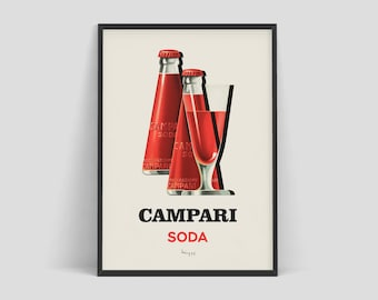 Retro advertising prints