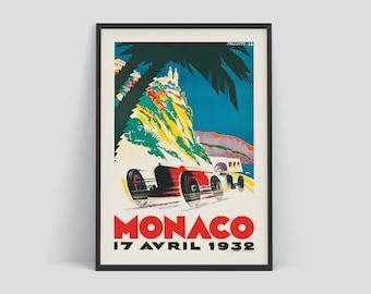 Retro racing posters