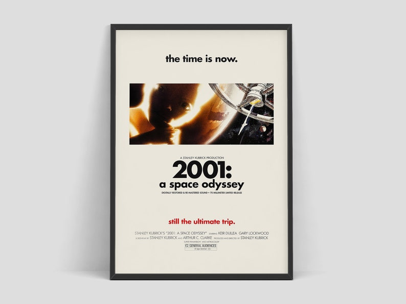 2001 a space odyssey  Retro movie poster. Directed by Stanley image 0
