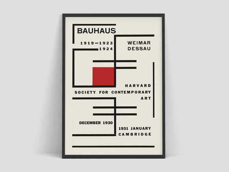 Bauhaus  Exhibition poster for Harvard Society for image 0