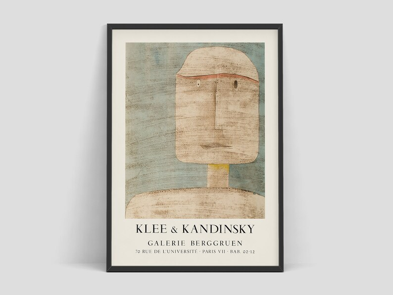Paul Klee and Wassily Kandinsky original vintage 1960's image 0