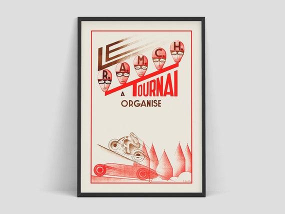 Monaco Vintage Style Race Car Poster 1952 Automotive Poster 16x24