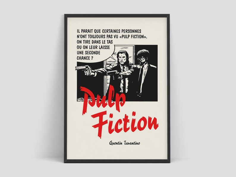 Pulp Fiction  Retro movie poster by Bernard Bittler 1994. image 0