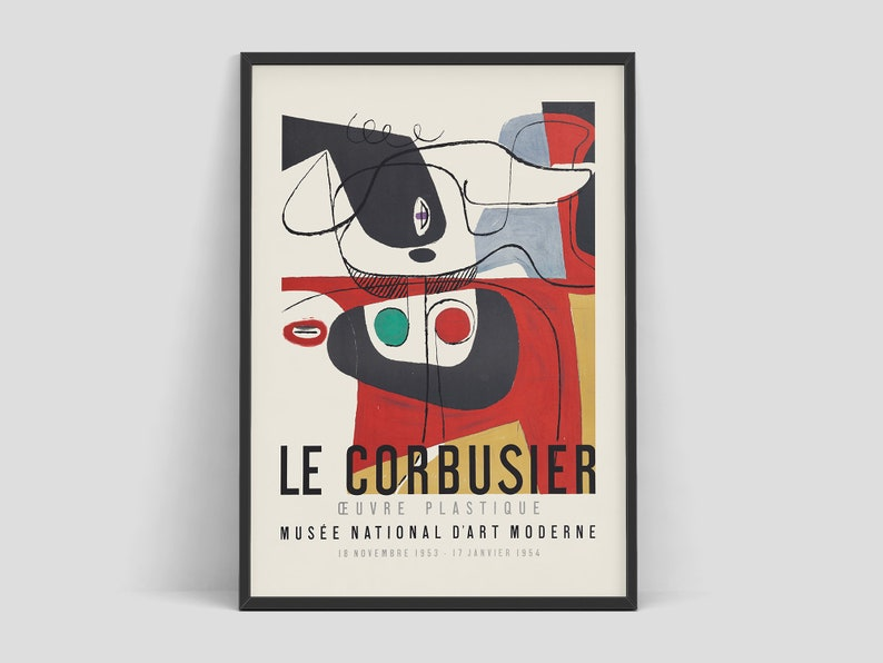 Le Corbusier  Exhibition poster for Musée National dArt image 0