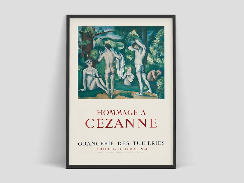 Paul Cezanne  Exhibition poster advertising an art exhibition image 0