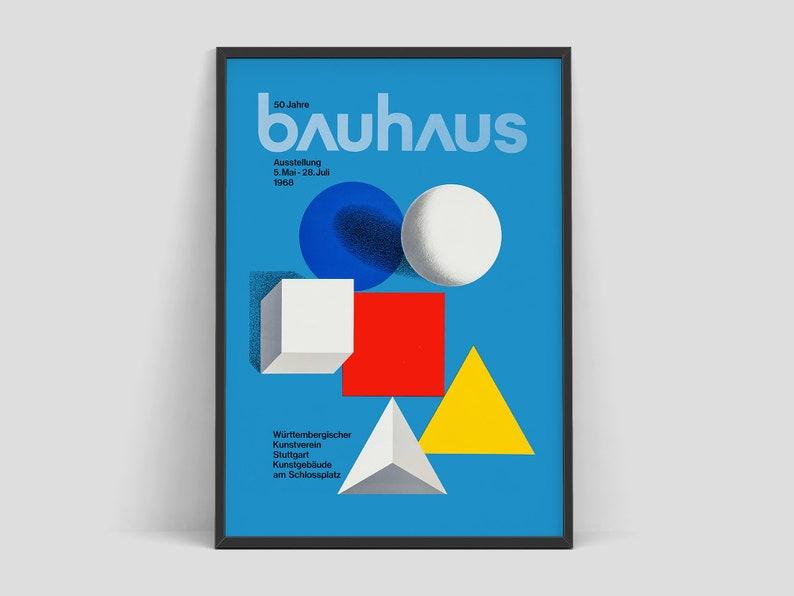 Bauhaus  50 years of Bauhaus exhibition poster by Herbert image 0