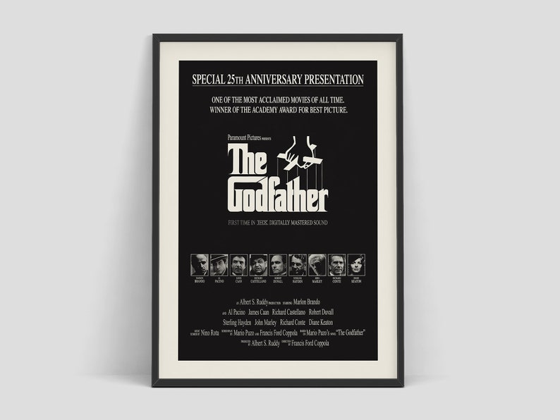 The Godfather  Retro movie poster by Francis Ford Coppola image 0