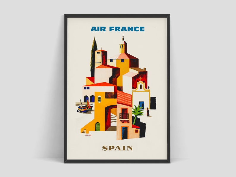 Spain  Air France vintage travel poster by Francois Vernier image 0
