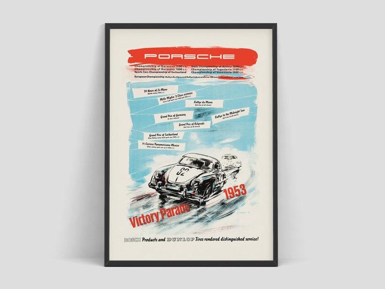 Porsche poster by Erich Strenger celebrates the numerous image 0