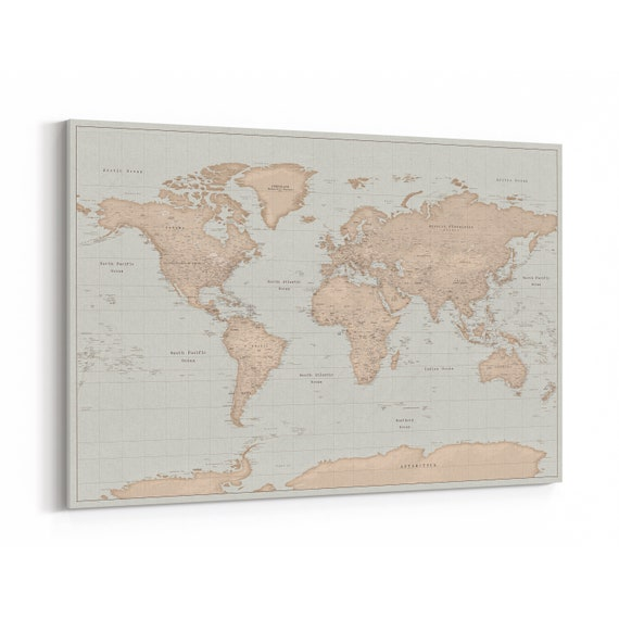 World Map With Pins Travel Map Pin Board With Pins Vintage Push Pin World Map Birthday Gifts For Women Detailed Ready To Hang 100 Pins Trip Map