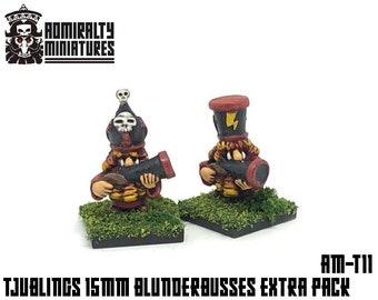 2 Tjubling Blunderbuss Extras 15mm Fantasy Wargaming Admiralty Miniatures Sculpted by Tobias Torstensson Infernal Chaos Ashen Dwarfs Models