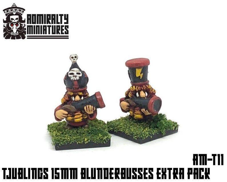 2 Tjubling Blunderbuss Extras 15mm Fantasy Wargaming Admiralty image 0
