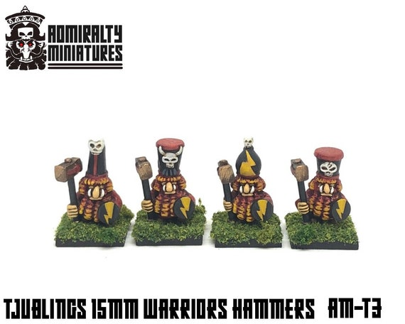 4 Tjubling Hammer Guard 15mm Fantasy Wargaming Admiralty Miniatures  Sculpted by Tobias Torstensson Infernal Chaos Ashen Dwarfs Dwarves Army