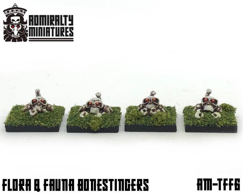4 Bonestingers 15mm Fantasy Wargaming Admiralty Miniatures Sculpted by Tjub  Scorpions Skulls Skeleton Critters Beasts Animals Crab Sci-Fi