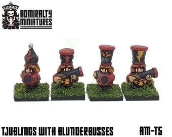 4 Tjubling Blunderbusses 15mm Fantasy Wargaming Admiralty Miniatures Sculpted by Tobias Torstensson Infernal Chaos Ashen Dwarfs Dwarves Hat