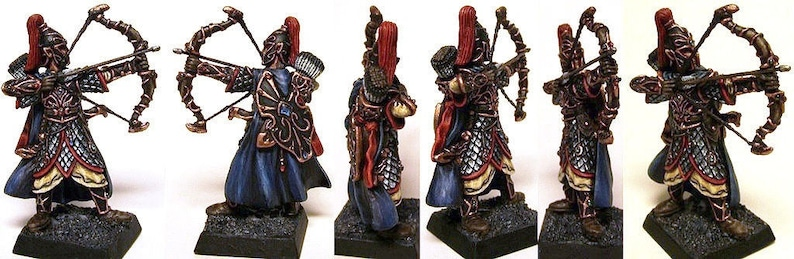 10 Elf Heavy Archers of Ancient Times 32mm Modelling Wargaming Fantasy  Admiralty Miniatures