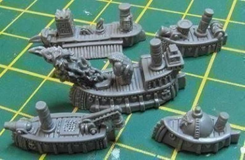 5 Ashen Dwarf Escort Vessels of Ancient Times Admiralty Miniatures  Smallscale Naval Fantasy Wargaming Suitable for T9A Warhammer Man o' War