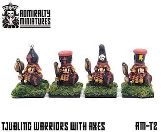 4 Tjubling Axemen 15mm Fantasy Wargaming Admiralty Miniatures Sculpted by Tobias Torstensson Infernal Chaos Ashen Dwarfs Dwarves Army Hat